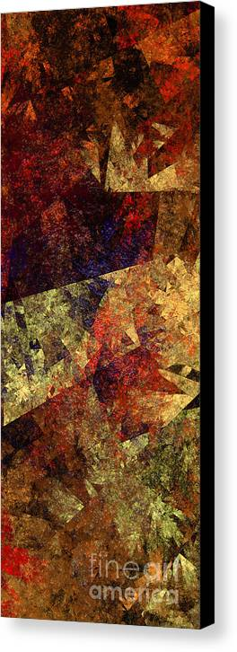Abstract Canvas Print featuring the digital art Autumn Road by Andee Design