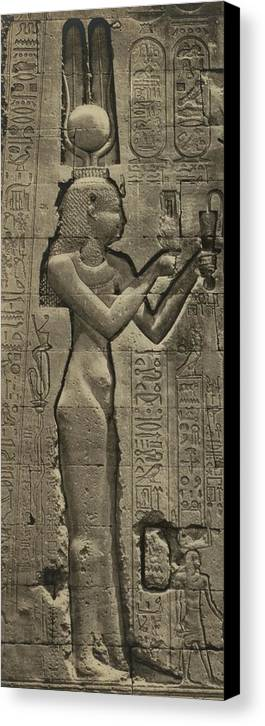 History Canvas Print featuring the photograph Relief Sculpture Of Cleopatra Vii 69-30 by Everett