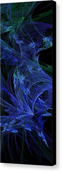 Fractal Canvas Print featuring the digital art Blue Breeze by Andee Design