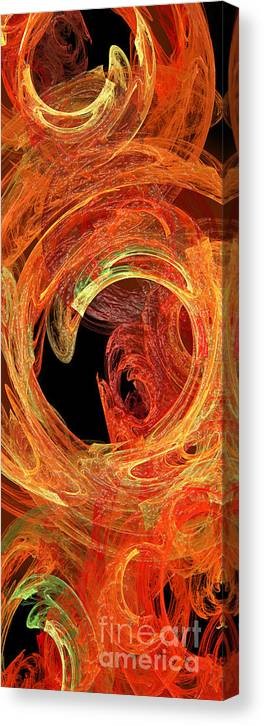 Abstract Canvas Print featuring the digital art Autumn Waves by Andee Design