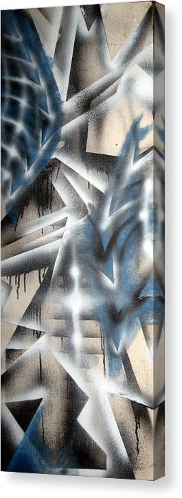 Abstract Canvas Print featuring the painting Slipstream by Leigh Odom