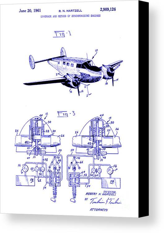 1961 propeller patent blueprint canvas print canvas art by jon neidert 1961 hartzell propeller patent blueprint canvas print featuring the photograph 1961 propeller patent blueprint by jon malvernweather Images