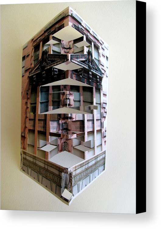 Architecture Canvas Print featuring the sculpture Architecture Reconstruction by Alfred Ng