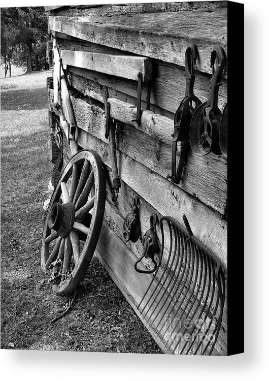 Canvas Print featuring the photograph Cabin Wall by Julie Dant