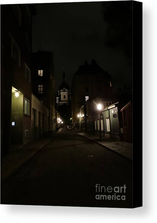 Stockholm Canvas Print featuring the photograph Empty by Brandi Moore