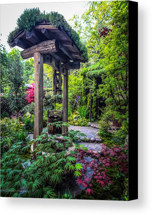 Hidden Canvas Print featuring the photograph Hidden Garden Well by Ross Henton