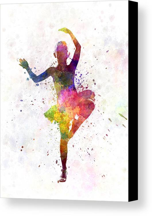 little girl ballerina ballet dancer dancing canvas print canvas