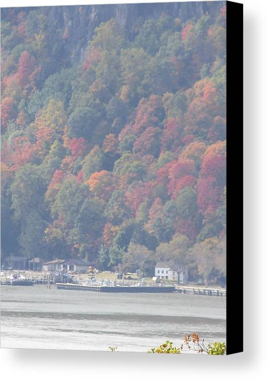 Nature Canvas Print featuring the painting Palisades by John Houseman