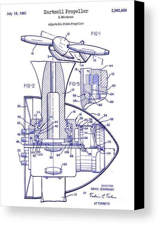 1961 hartzell propeller blueprint canvas print canvas art by jon 1961 hartzell propeller patent blueprint canvas print featuring the photograph 1961 hartzell propeller blueprint by jon malvernweather Images