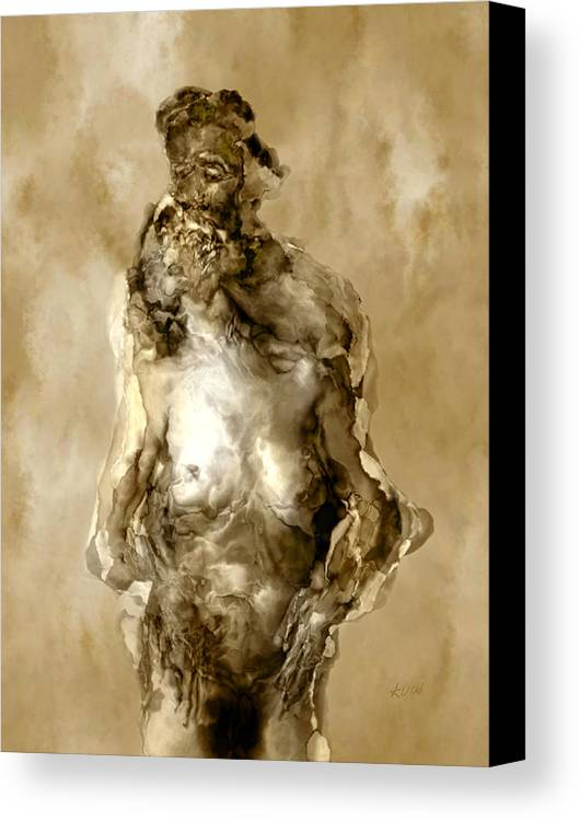 Nude Canvas Print featuring the photograph Melt by Kurt Van Wagner