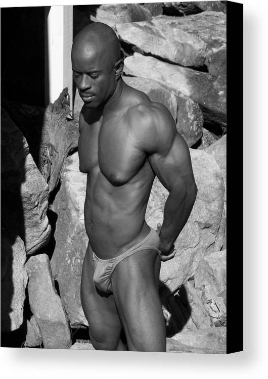 Male Nude Canvas Print featuring the photograph The Art Of Muscle by Jake Hartz