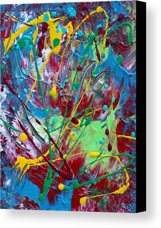 4th Of July Canvas Print featuring the painting 4th Of July by Donna Blackhall