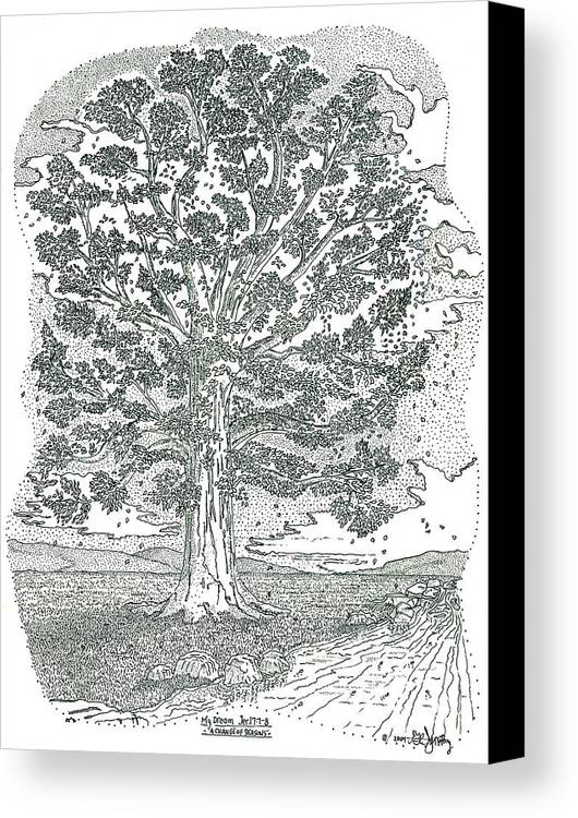 Landscape Canvas Print featuring the drawing A Change Of Seasons by Glenn McCarthy Art and Photography