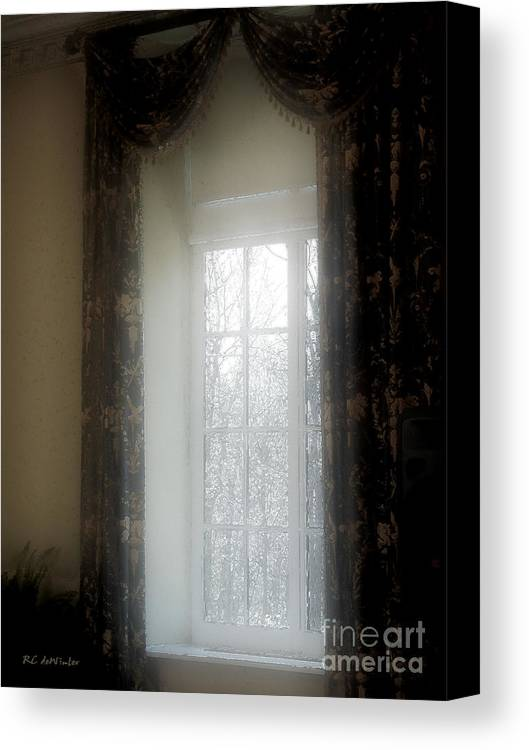 Curtains Canvas Print featuring the painting A Hazy Shade Of Winter by RC DeWinter