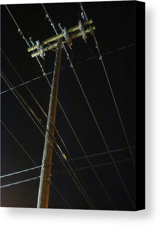 Guy Ricketts Photography And Art Canvas Print featuring the photograph A Spiderweb Of Technology by Guy Ricketts