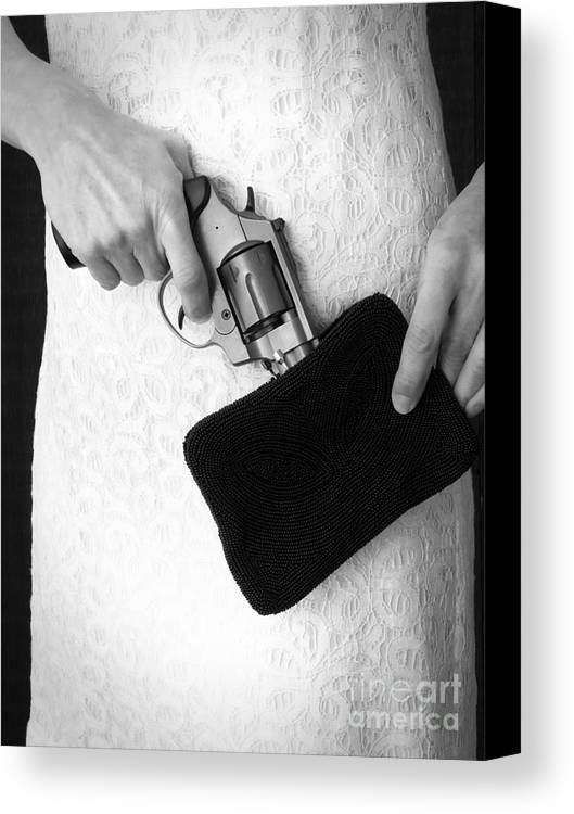 Purse Canvas Print featuring the photograph A Woman Scorned by Edward Fielding