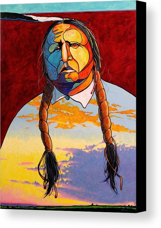 Spiritual Canvas Print featuring the painting All That I Am by Joe Triano