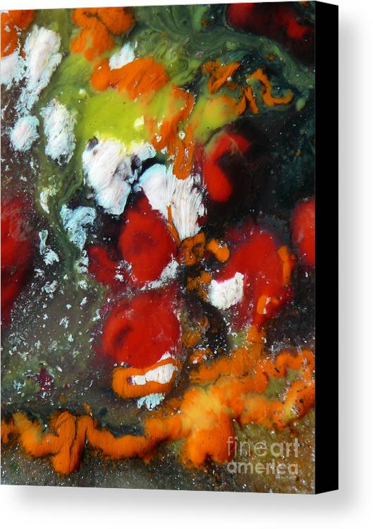 Ice-painting Canvas Print featuring the photograph Along The Orange String Road by Chris Sotiriadis