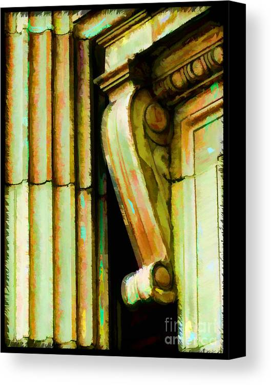 Architectural Elements Canvas Print featuring the photograph Archatectural Elements Digital Paint by Debbie Portwood