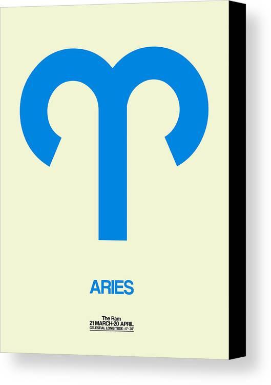 Aries Zodiac Sign Blue Canvas Print Canvas Art By Naxart Studio
