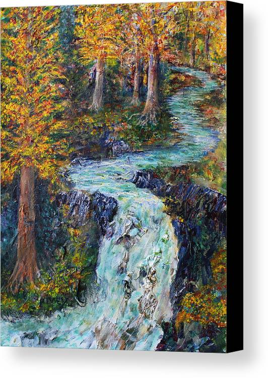 Canvas Print featuring the painting Autumn Falls by William Spivey