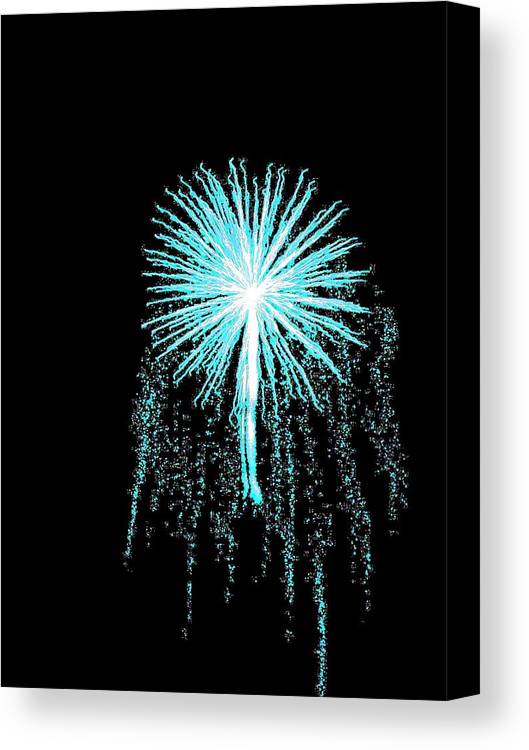 Firework Canvas Print featuring the photograph Blue Angel by Katie Beougher