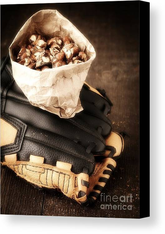 Baseball Canvas Print featuring the photograph Buy Me Some Peanuts And Cracker Jack by Edward Fielding