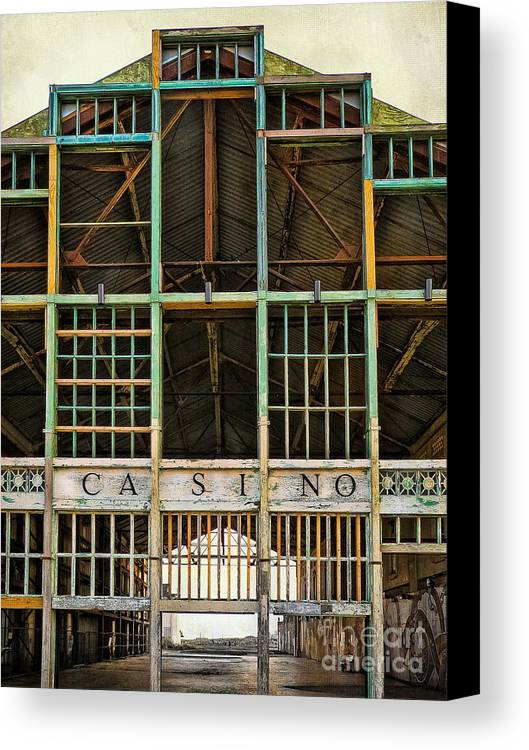 Asbury Park Casino Canvas Print featuring the photograph Casino In Multi-color by Colleen Kammerer