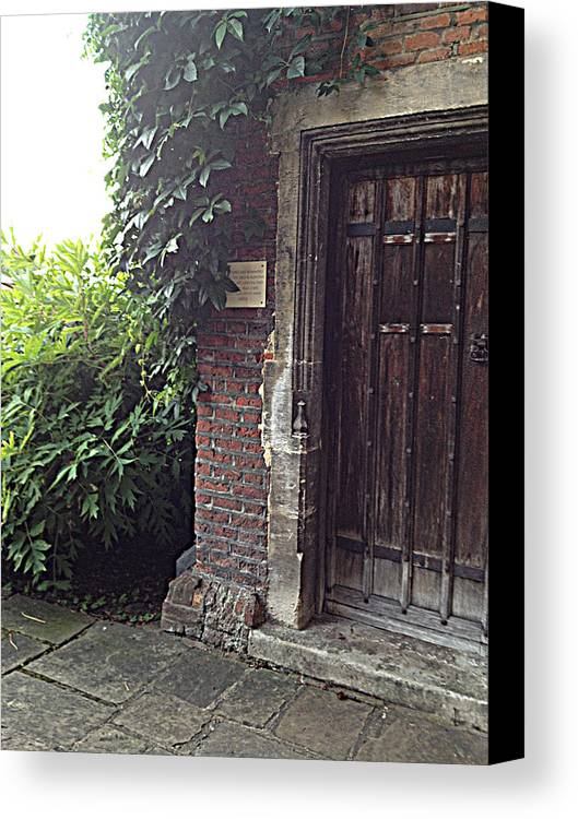 Photograph Canvas Print featuring the photograph Castle Door by Nicole Parks