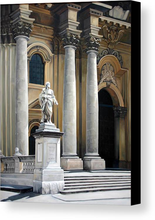 Painting Canvas Print featuring the painting Cathedral Of Syracuse by Kathleen English-Barrett