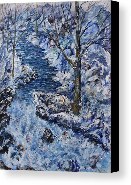 Canvas Print featuring the painting Chilling Stream by William Spivey