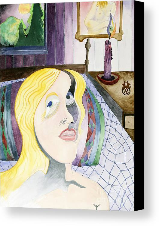 Portrait Canvas Print featuring the painting Claudia I Dreamt by Aaron Joslin