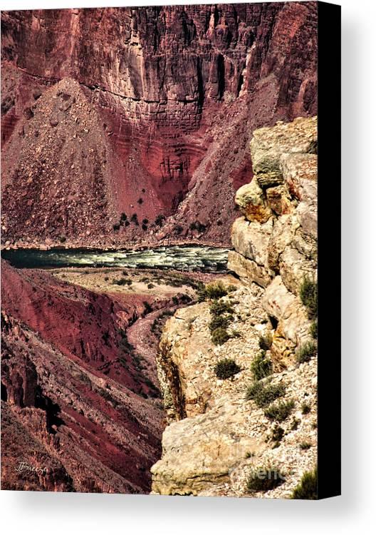 Colorado River Canvas Print featuring the photograph Colorado River. Grand Canyon by Jennie Breeze