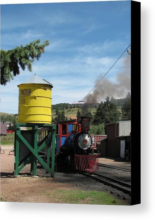 Transportation Canvas Print featuring the photograph Cripple Creek Train by Steven Parker