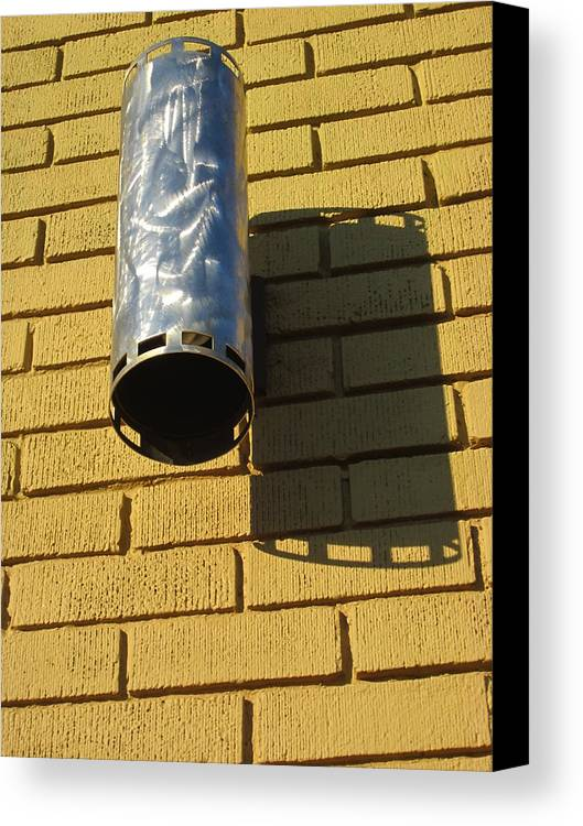 Guy Ricketts Photography Canvas Print featuring the photograph Cylinder Of Silver by Guy Ricketts