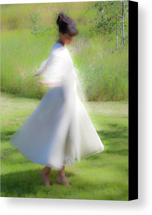 Impressionist Canvas Print featuring the photograph Dancing In The Sun by Theresa Tahara