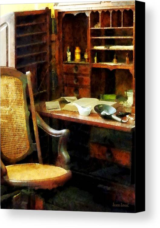 Druggist Canvas Print featuring the photograph Doctor - Doctor's Office by Susan Savad