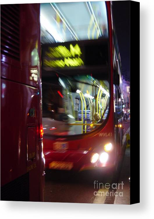 Double-decker Canvas Print featuring the photograph Double-decker by Sabrina Cornelli
