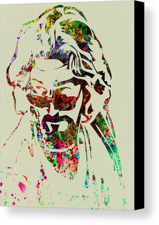 Big Lebowski Canvas Print featuring the painting Dude by Naxart Studio