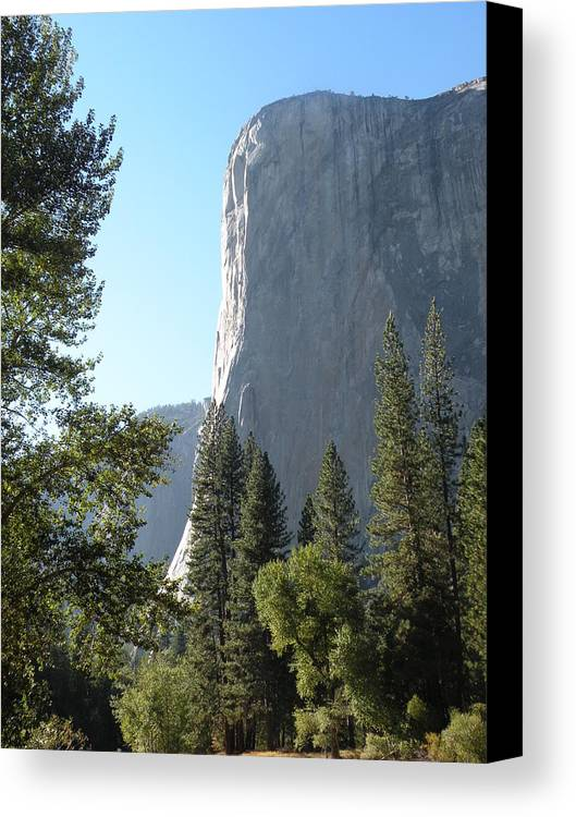 Mountains Canvas Print featuring the photograph El Cap by Peter Hennessey
