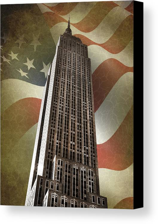 Empire State Building Canvas Print featuring the photograph Empire State Building by Mark Rogan