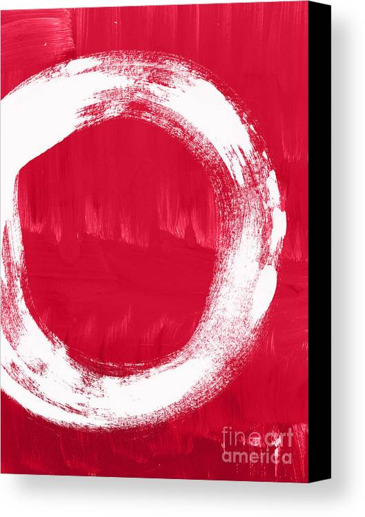 Red Canvas Print featuring the painting Energy by Linda Woods