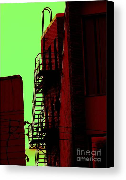 Cincinnati Fire Escape Canvas Print featuring the photograph Escape by Beverly Shelby