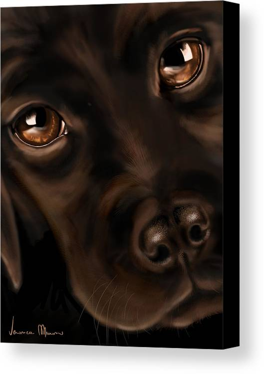 Digital Canvas Print featuring the painting Eyes by Veronica Minozzi
