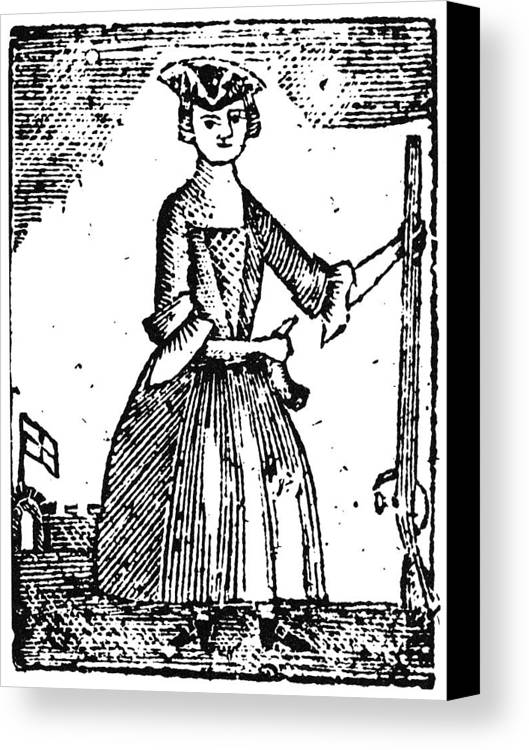 1779 Canvas Print featuring the photograph Female Continental Soldier by Granger