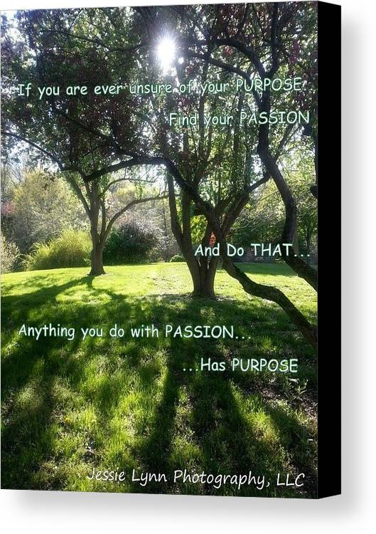 Trees Canvas Print featuring the photograph Find Your Passion by Jessie Lynn