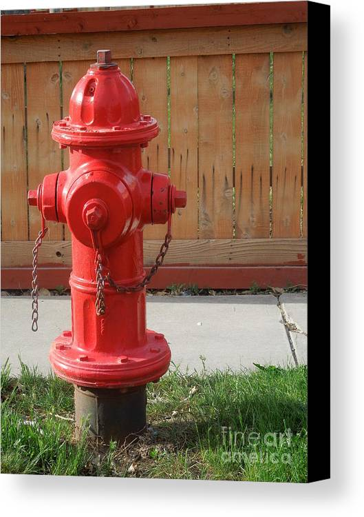 Fire Canvas Print featuring the photograph Fire Hydrant 3 by Richard W Linford