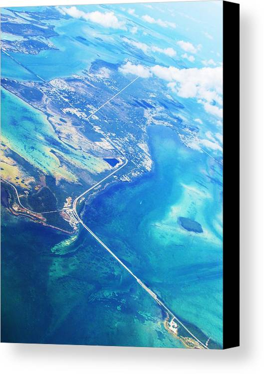 Flying Canvas Print featuring the photograph Flying To Key West by Allen Meyer