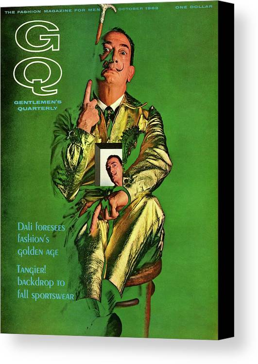 Fashion Canvas Print featuring the photograph Gq Cover Featuring Salvador Dali by Chadwick Hall