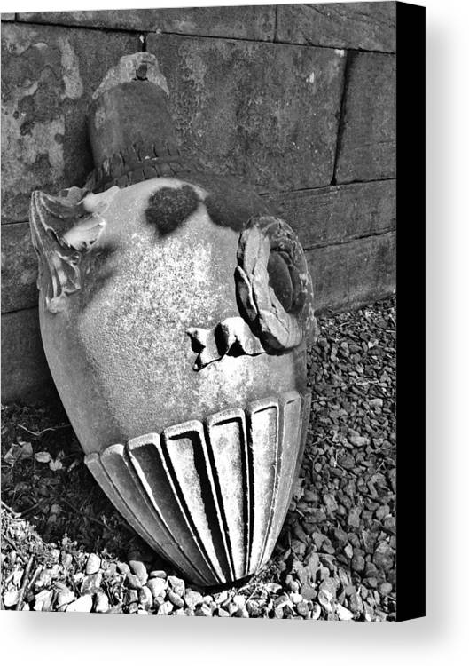 Architecture Canvas Print featuring the photograph Scotland_grey Friars Urn by C Stephenson-Gibbs